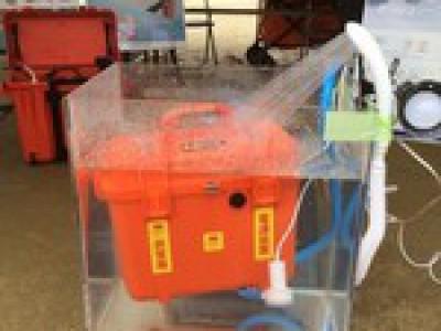 IP67取得 防塵防水電源装置 IFUC-500【水中実験】